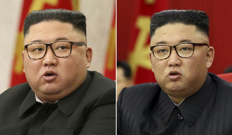 Photo of Kim Jong-un taken in February 2021 (left) and June 2021. AP / AP
