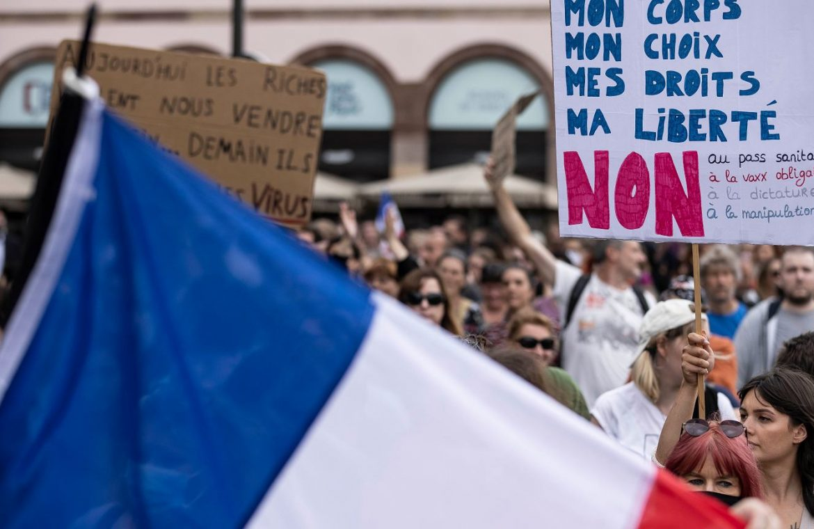 France.  100 thousand people in protests against government decisions regarding vaccinations.  But most of them support them    world News