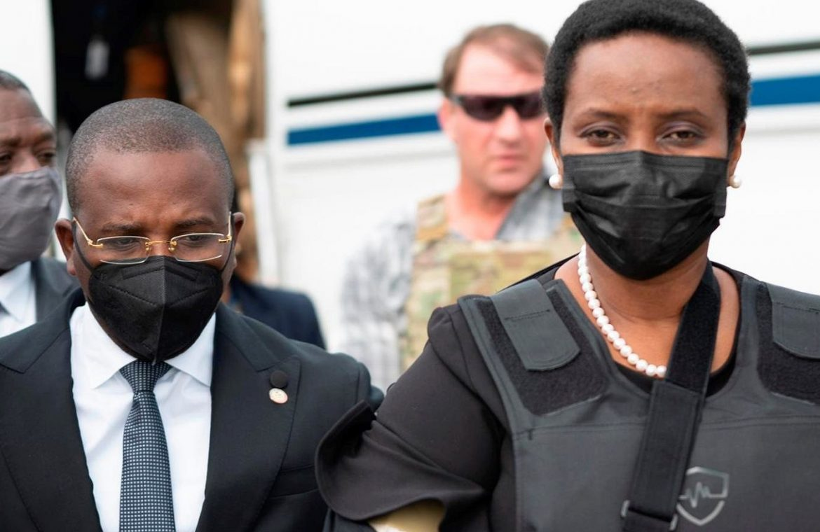 Haiti.  The wife of the slain president, Jovenel Moise, returns to the country.  In a bullet-proof vest |  world News