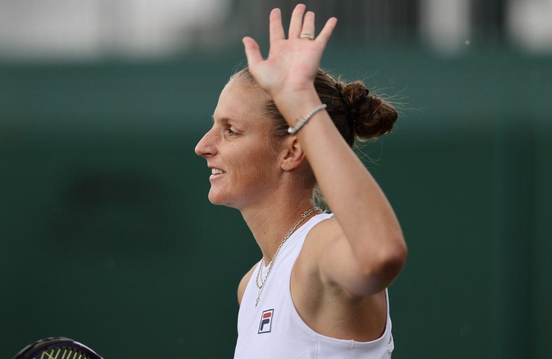 Karolina Pliskova broke the barrier.  Swiss with lifetime achievement