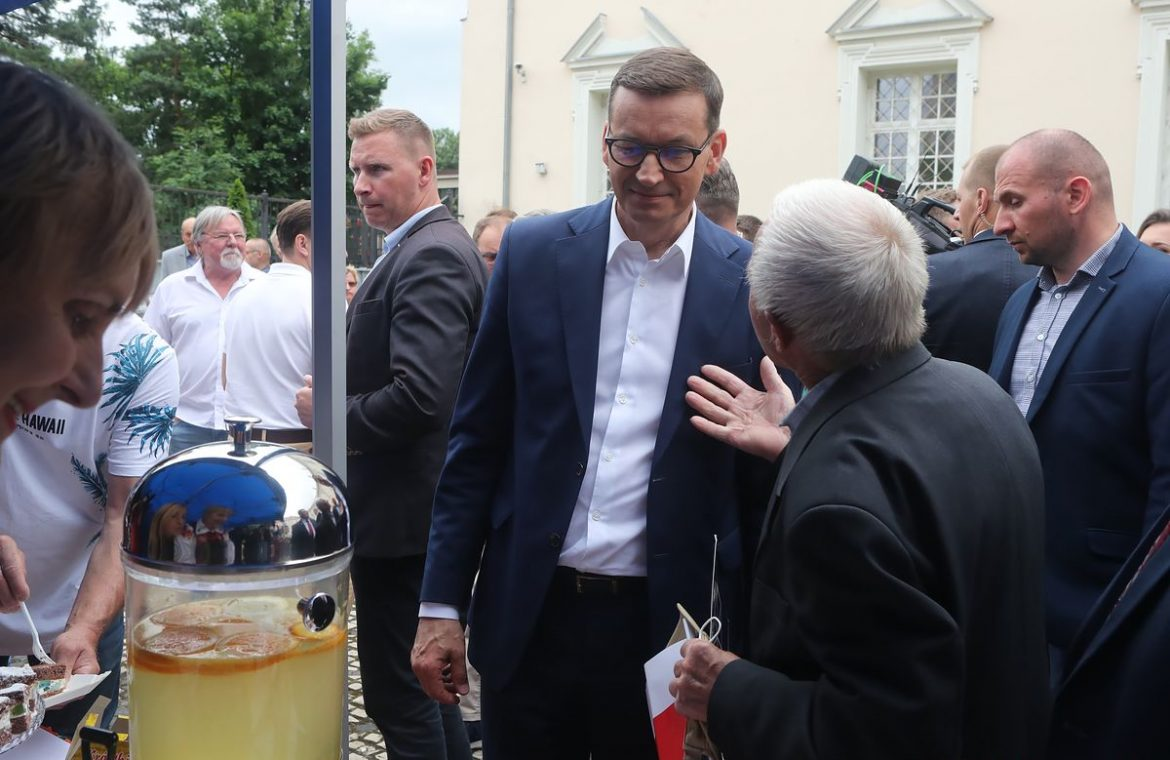 """Mateusz Morawiecki is promoting the Polish deal.  """"This is a ticket to living in the West"""""""