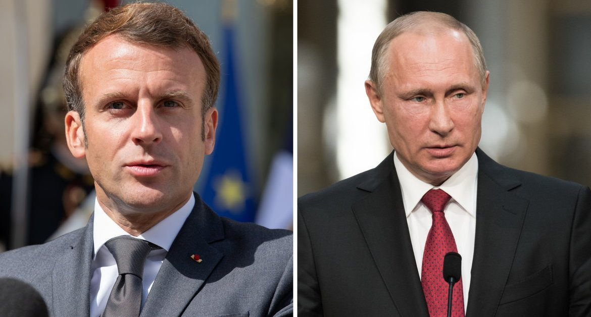 The presidents of France and Russia spoke by phone about improving mutual relations العلاقات