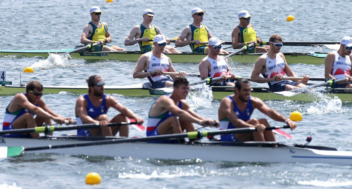 Tokyo 2020. Rowing.  Disaster was in the air.  The British approached the Italians