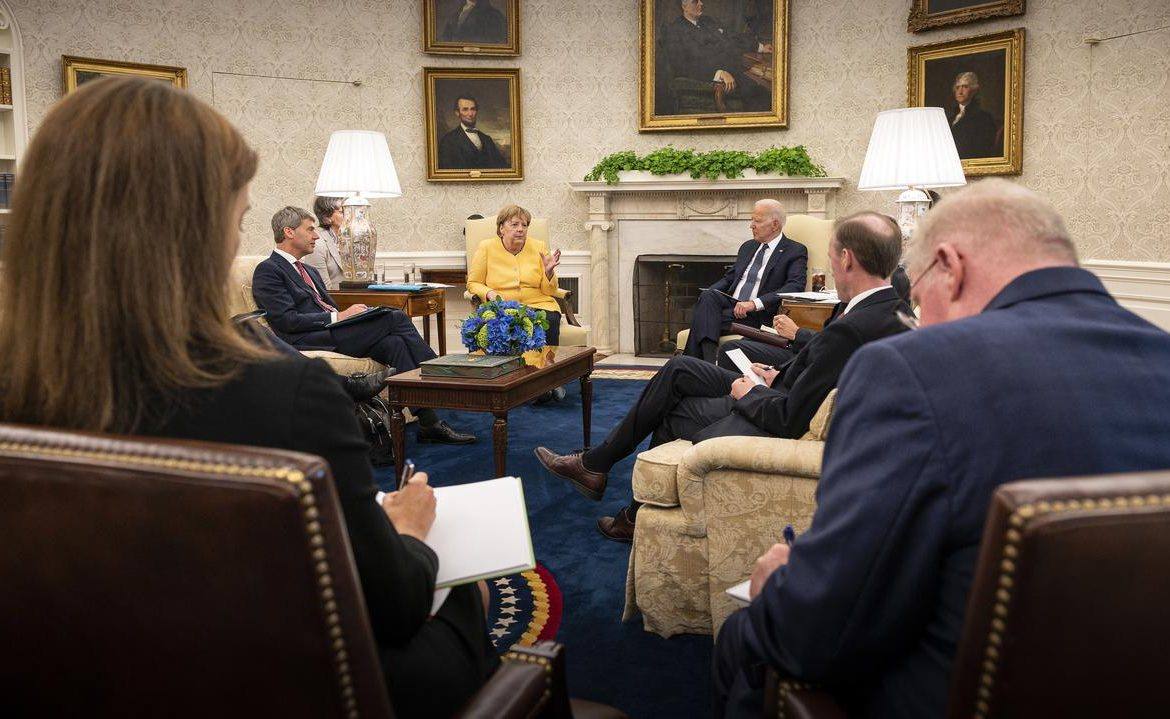 United States of America.  Angela Merkel met Joe Biden at the White House.  Differences of opinion about Nord Stream 2