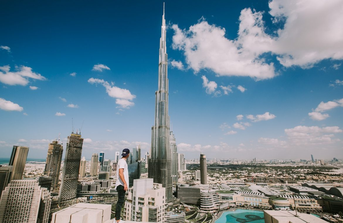 This is not a hoax!  Emirates Airlines put a woman on the tallest skyscraper in the world