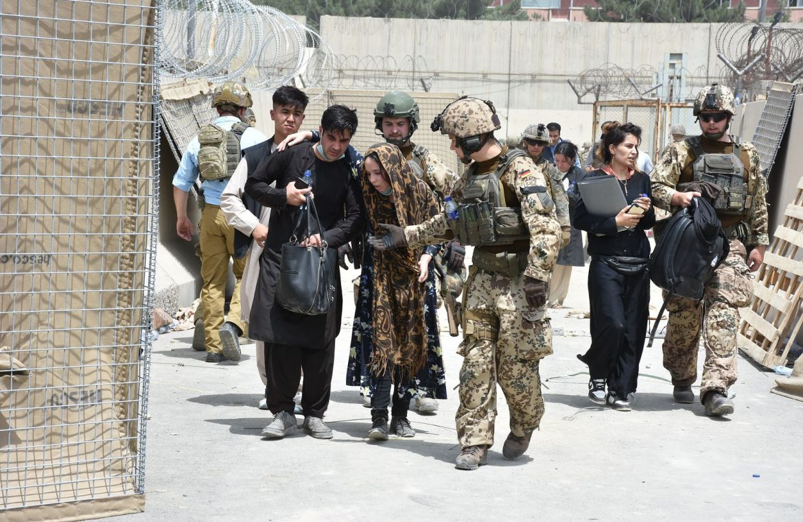 Afghanistan.  The Taliban criticize the United States.  Chaos at the airport