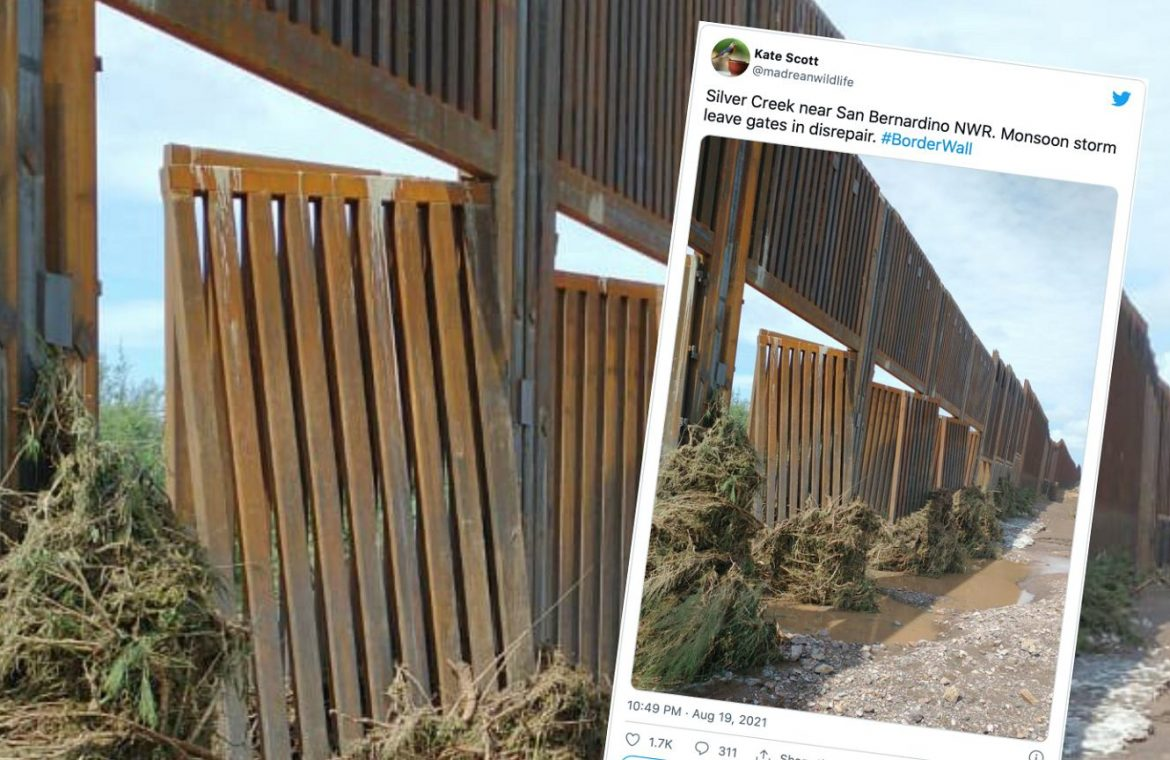 Donald Trump's wall on the US-Mexico border has been destroyed.  Built in a hurry, damaged by heavy rain |  world News