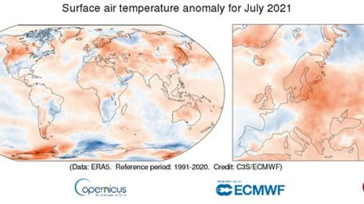 EU/Climatologists: Last month was the third month of July ever