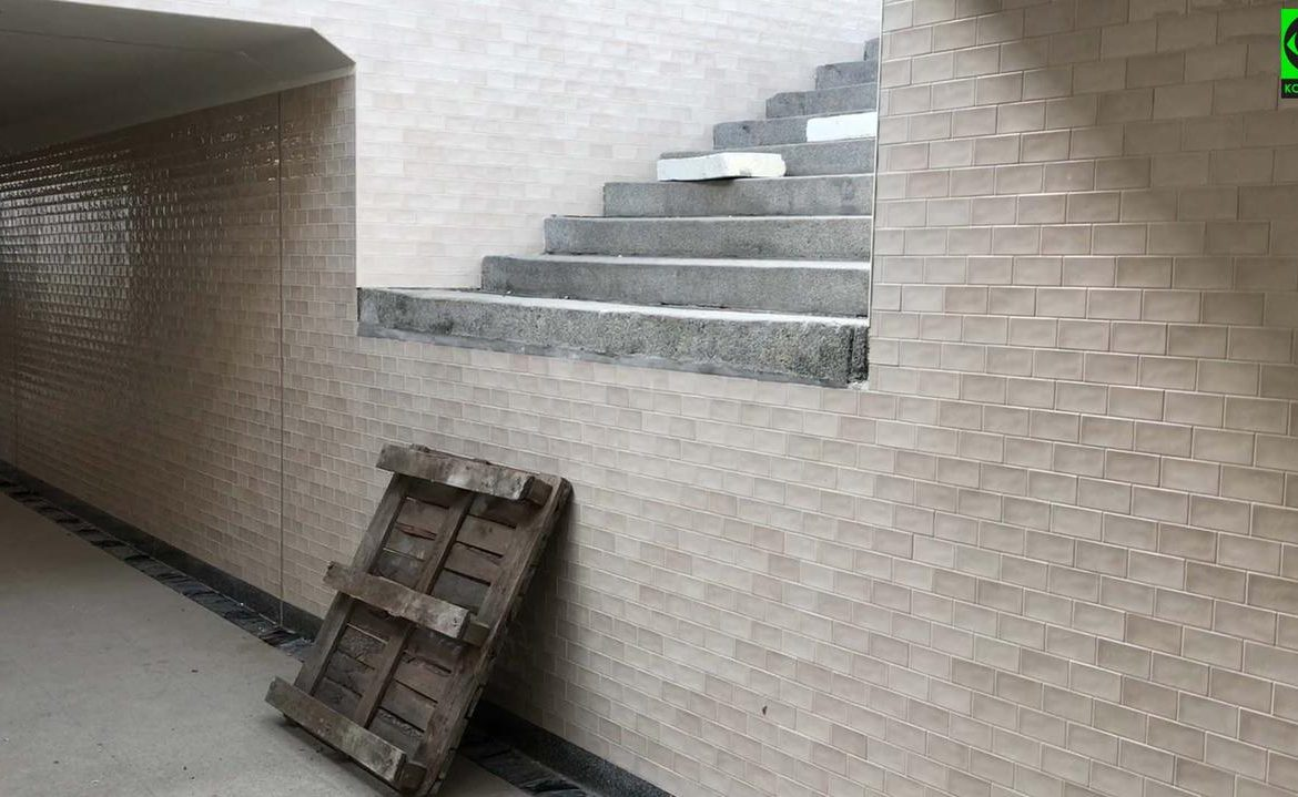 Gdansk Cologne.  Stairs to anywhere and platform renovation where the train doesn't stop