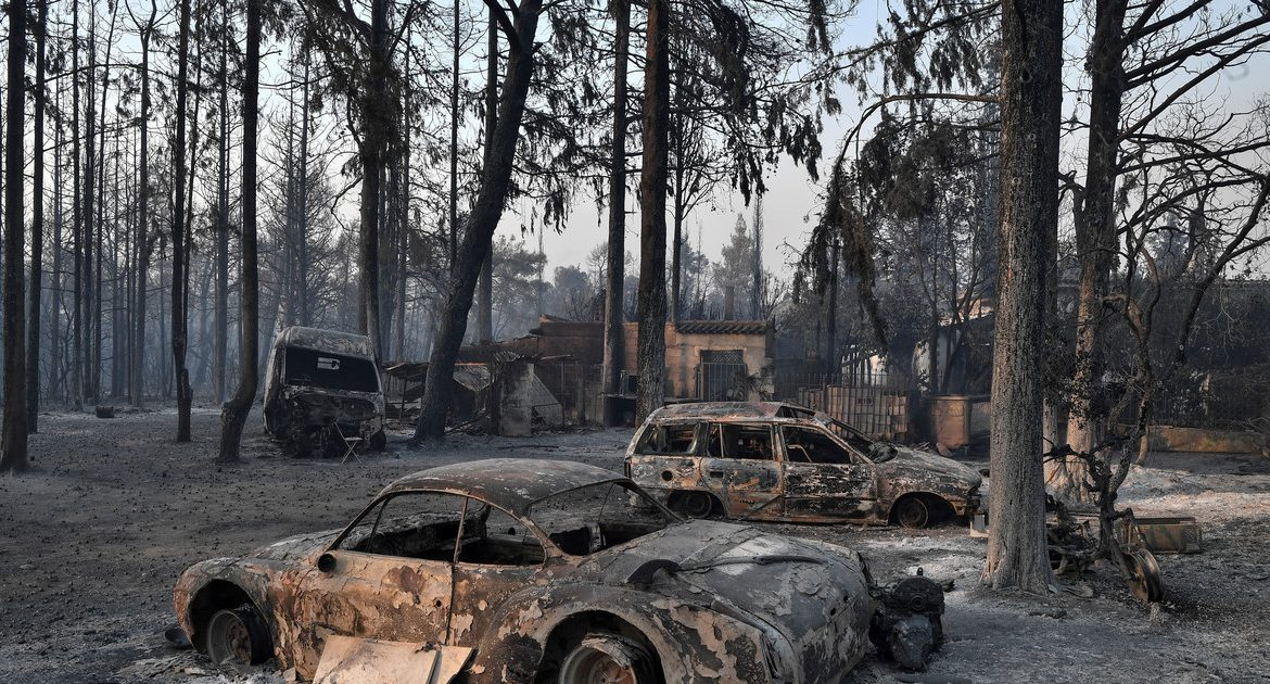Greece.  Thousands of people flee from Athens.  Huge fires all over the country