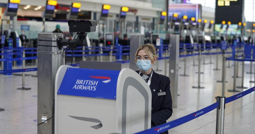 He travels to Great Britain.  Quarantine lifted