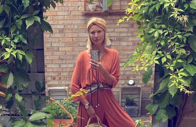 "Justyna Nag³owska showed off a beautiful boho-style balcony.  It has large mirrors hidden among the plants.  ""my heaven"""