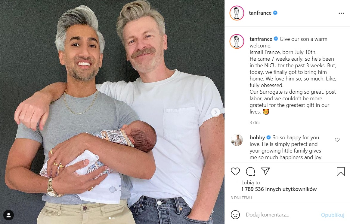 Tan France from Queer Eye has become a father