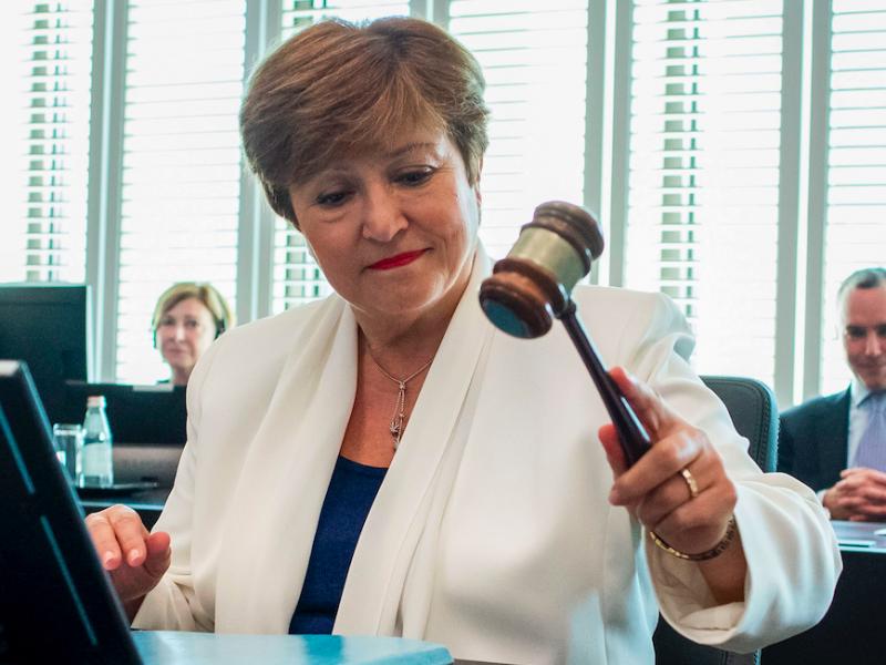 Managing Director of the International Monetary Fund, Kristalina Giorgiwa, Source: Flickr / Internationaler Monetary Fund (CC BY-NC-ND 2.0)