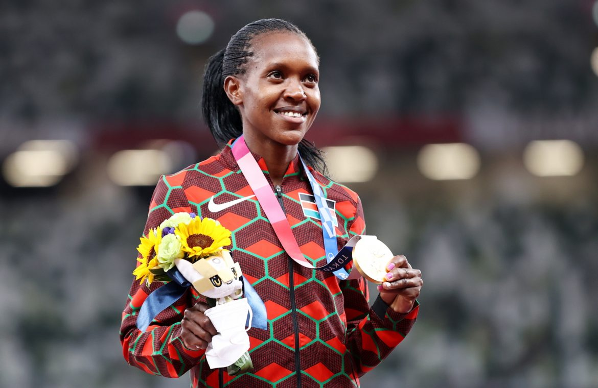 Tokyo 2020. The Olympic record has been broken.  Kenya defended the title