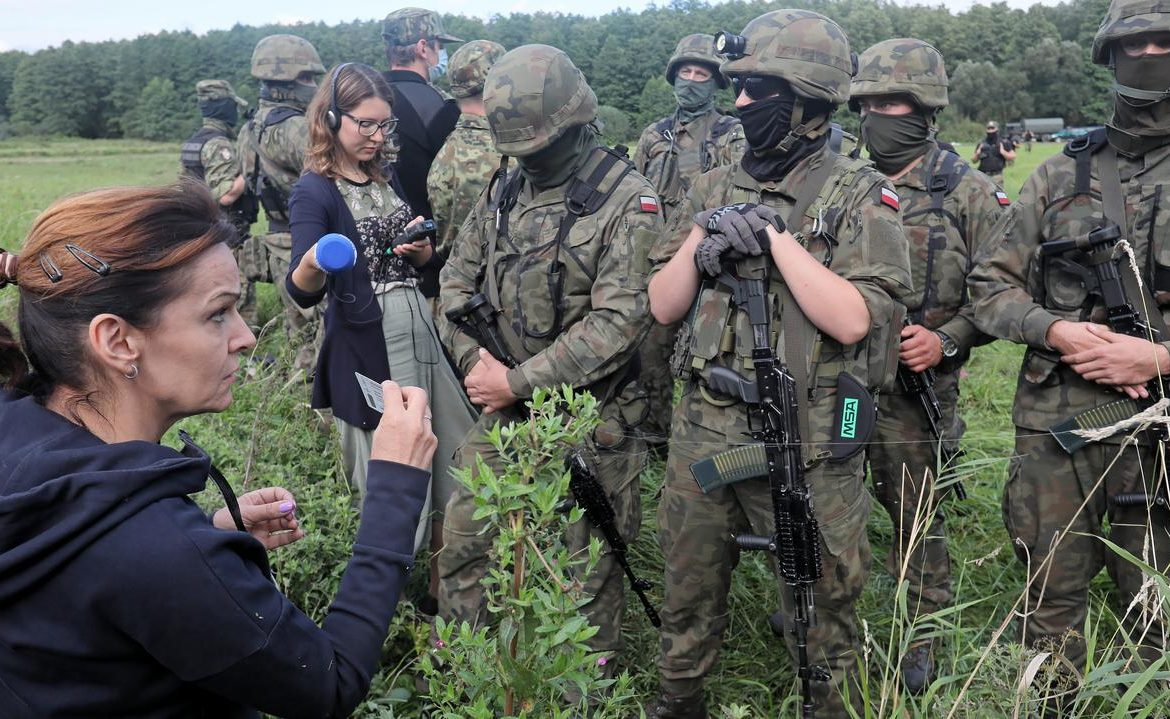 Usnarz Gorny, a camp for migrants on the Polish-Belarus border.  Senate Vice President Gabriela Morawska Stanica came, she was not allowed to pass through the ring