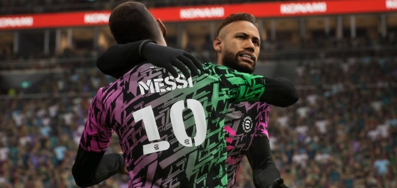 """eFootball """"takes the game to a new level of simulation.""""  The gameplay shows the details of the successor of PES"""