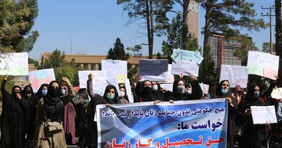 Afghanistan.  Women defended their rights in Herat