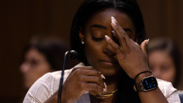 """Gymnast Simone Biles testified before the US Senate Committee of Inquiry into the so-called """"Nassar case""""."""