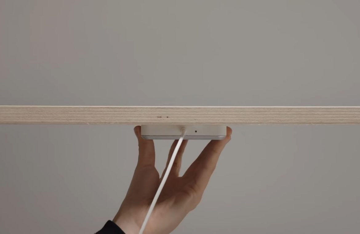 You will charge your phone with a desk.  IKEA presents the magic charger
