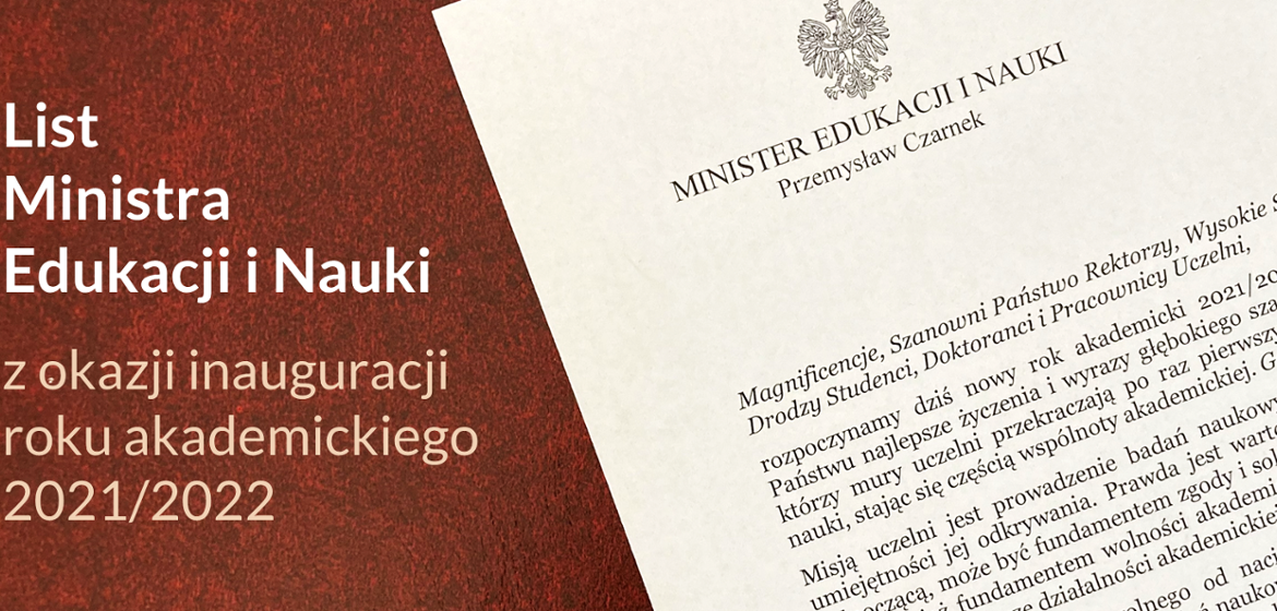 The letter of the Minister of Education and Science on the occasion of the opening of the school year 2021/2022 - Ministry of Education and Science