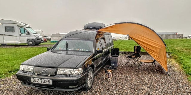 They saw the converted caravan that was advertised on Facebook and purchased for $4,826 (£3,500).