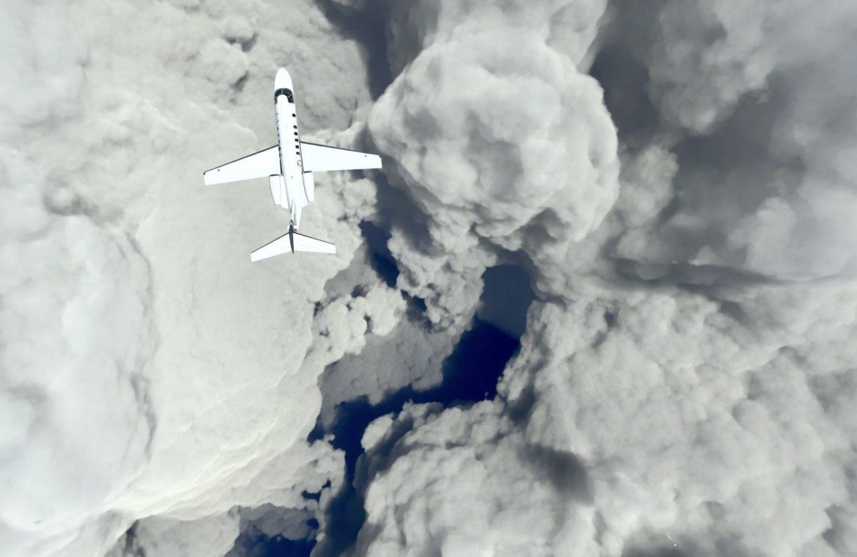Hurricane Ida in Microsoft Flight Simulator