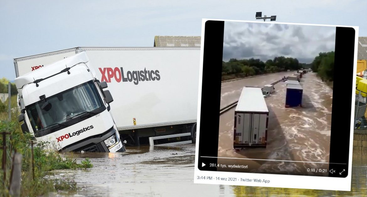 Severe storms and floods in the south of the country