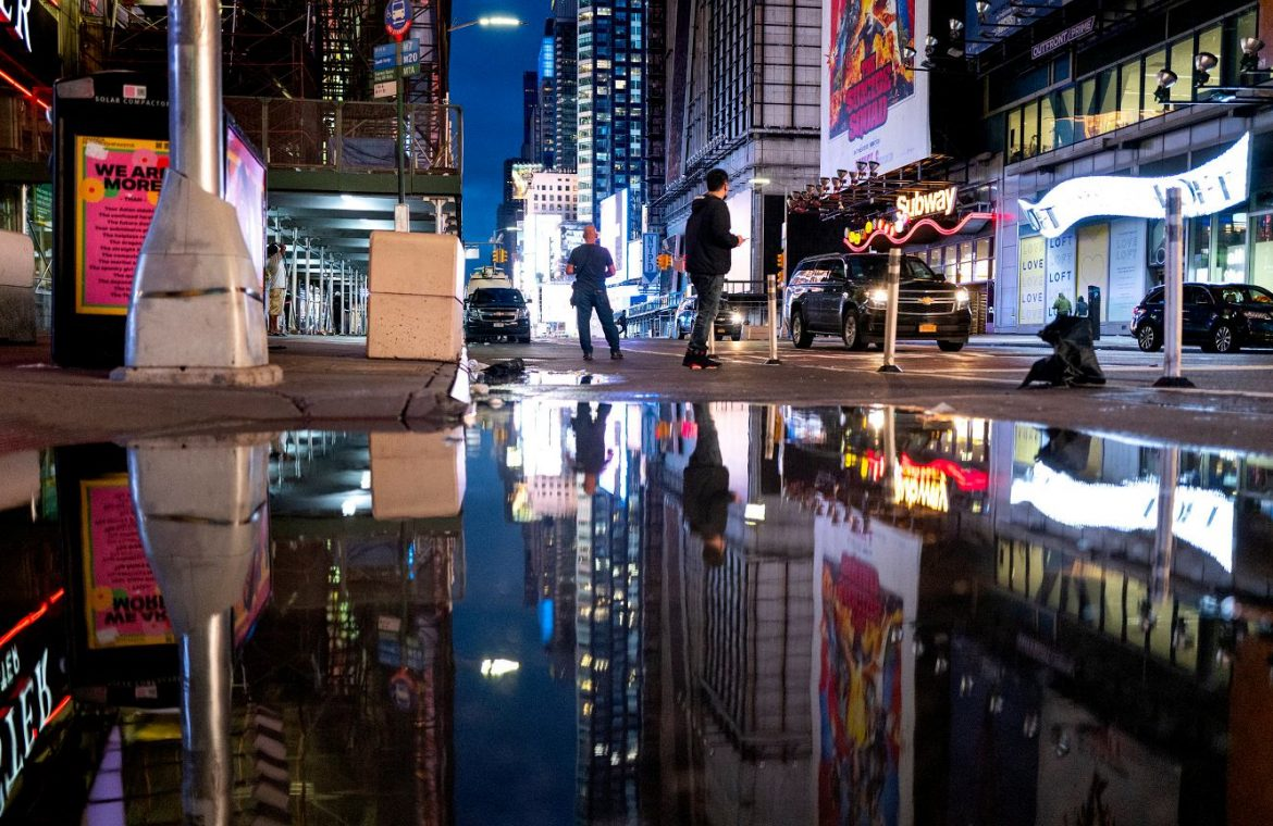 United States of America.  New York City is paralyzed by floods.  At least 14 people were killed