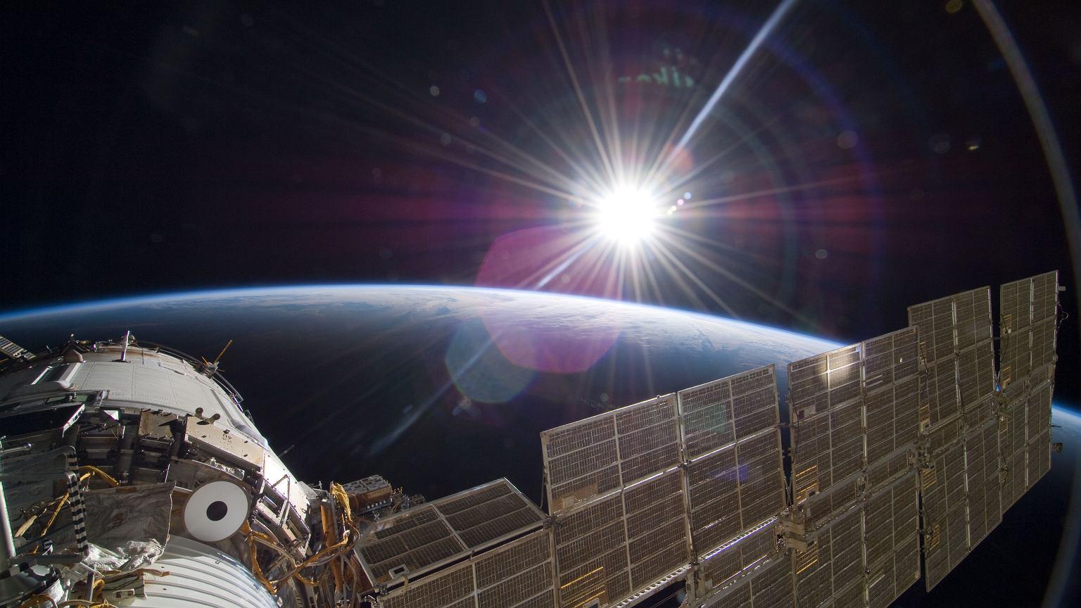 Spacecraft Spacecraft on the Moon - visualization