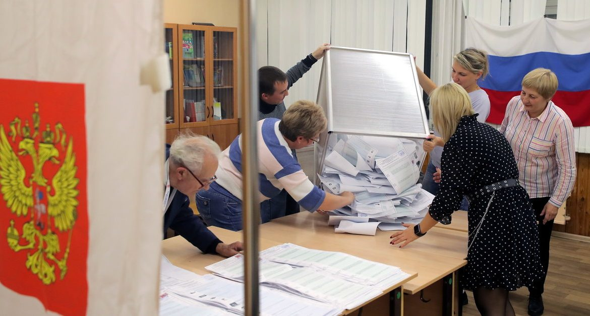 elections in Russia.  Exit poll results: United Russia wins