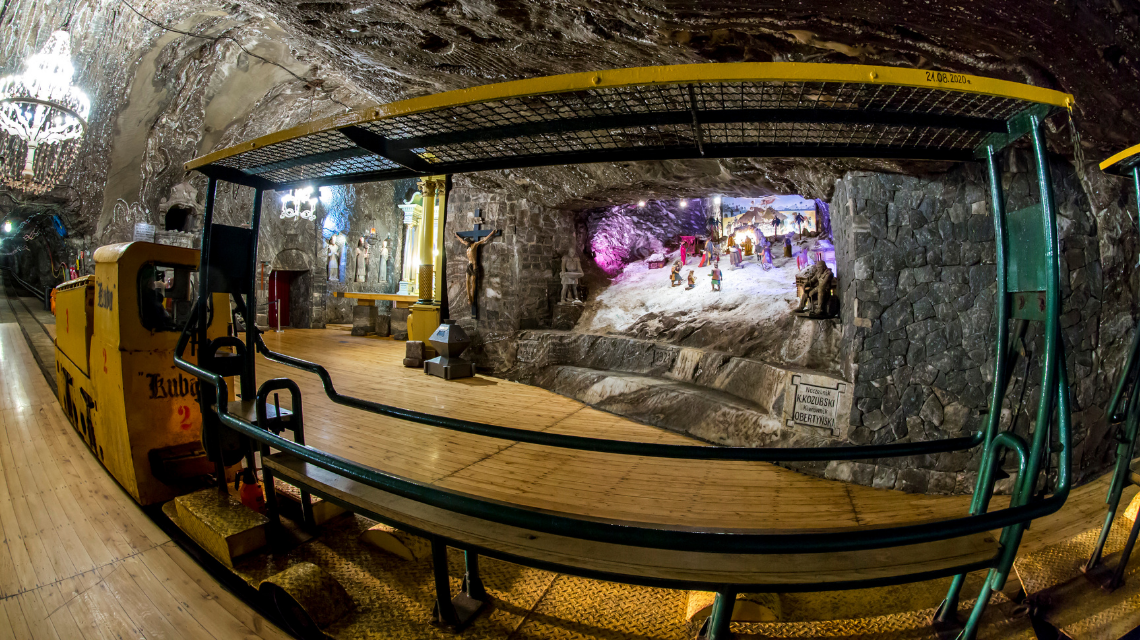 The Bochnia Salt Mine is the place for a family trip.  Visit this magical space this fall