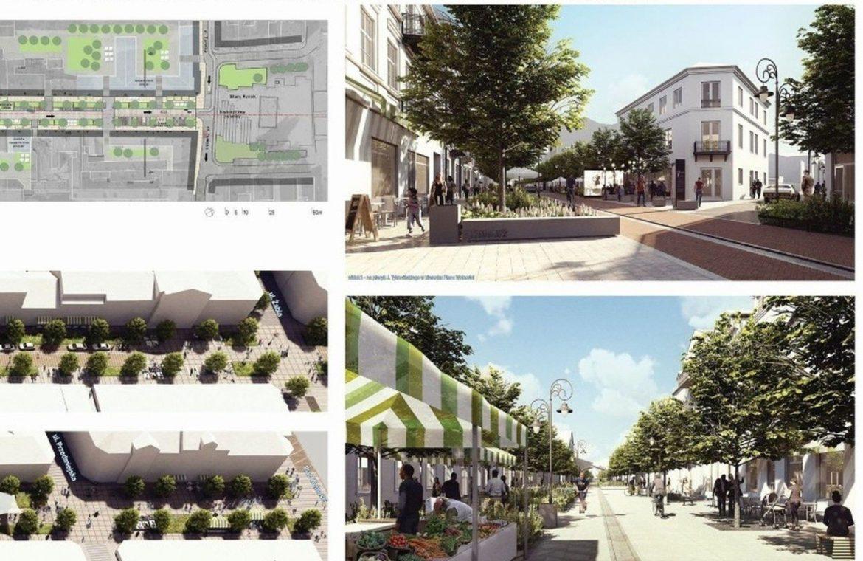 3 Maja Street in Włocławek will become woonerf.  This is what it should look like after reconstruction [wizualizacje]