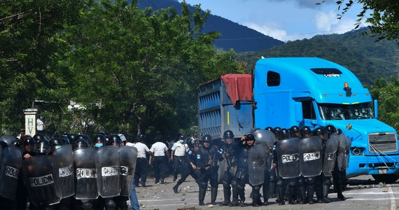 Guatemala.  Protest actions against the Swiss company