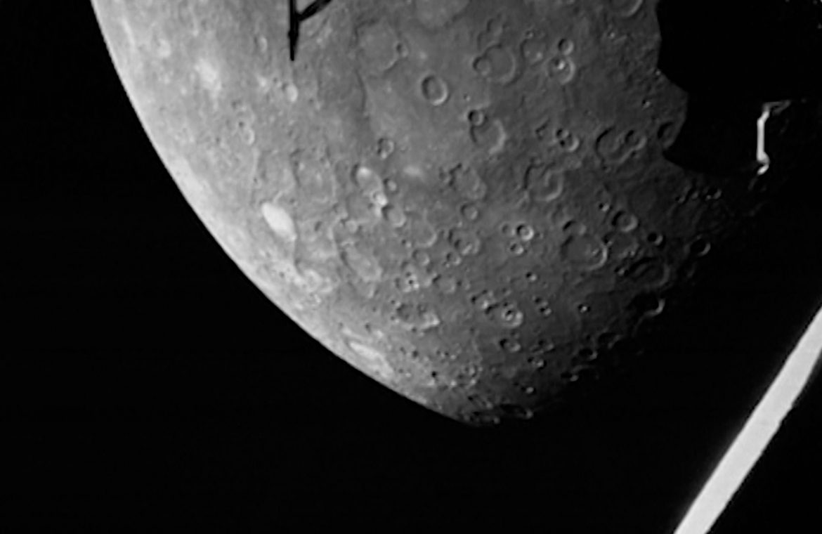 Mercury close-up.  Amazing footage from the BepiColombo probe