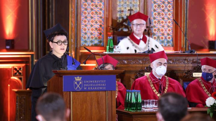 Olga Tokarczuk is the eleventh woman to receive an honorary doctorate from Jagiellonian University