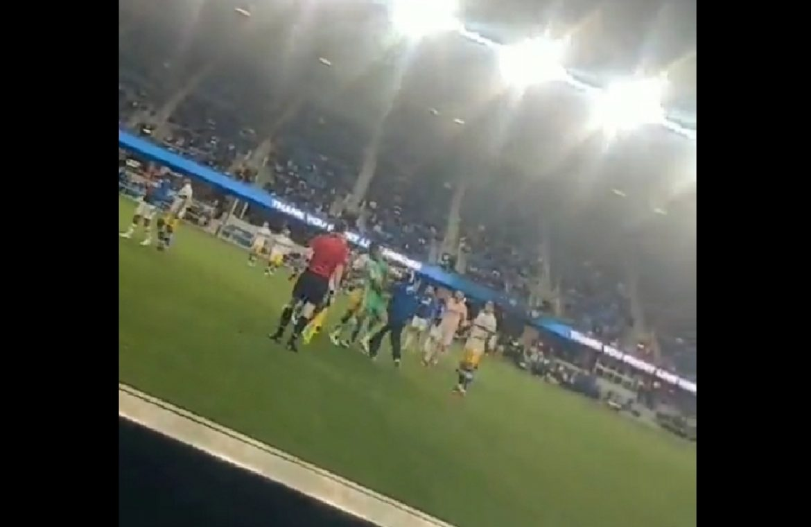 Strange scenes in the game America.  Football player fan hit.  Shots fired at the stadium! [WIDEO]