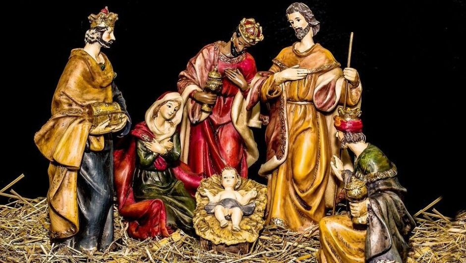 """""""The Three Wise Men arrive with a COVID passport.""""  New to the Naples birth scene"""
