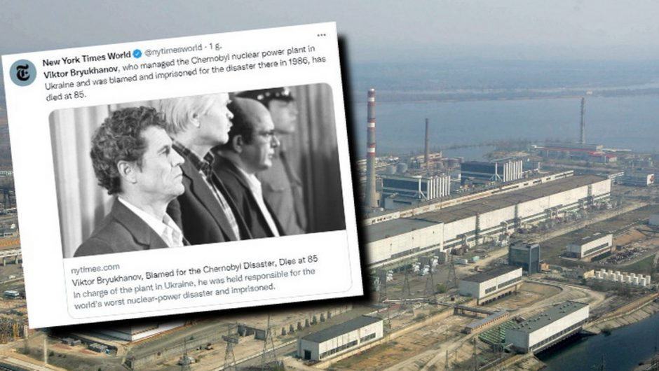 Victor Briocciano passed away.  He was jointly responsible for the Chernobyl disaster