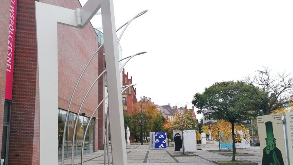 Wind pull into space.  The first work in the Sculpture Garden in Torun